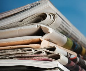 newspapers stack information 455.
