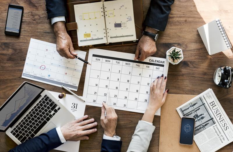 Business meeting chart