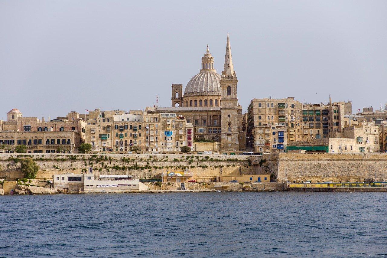 Malta city from the sea
