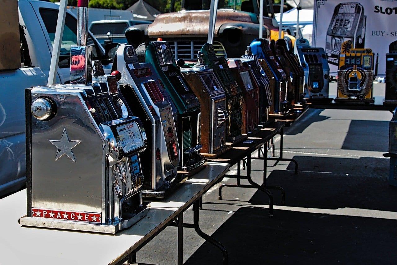 Slot machines outside